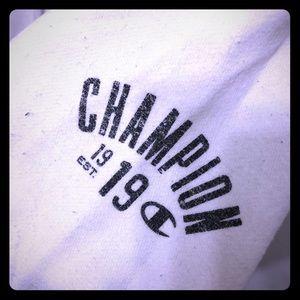 Cream Champion Full Zip Hoodie